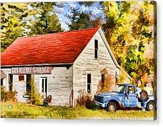 Door County Gus Klenke Garage Acrylic Print