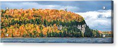 Door County Peninsula State Park Bluff Panorama Acrylic Print by Christopher Arndt