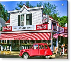 Door County Wilson's Restaurant And Ice Cream Parlor Acrylic Print