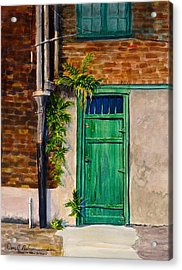 Door In New Orleans Acrylic Print by Dan Redmon