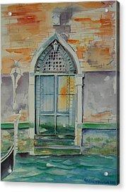 Door In Venice-italy Acrylic Print