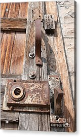 Door Knob Acrylic Print by Minnie Lippiatt