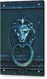 Door Knocker Acrylic Print by Rowana Ray