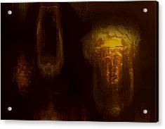 Acrylic Print featuring the digital art Door Knockers by Jim Vance