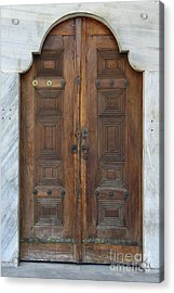 Door Of The Topkapi Palace - Istanbul Acrylic Print by Christiane Schulze Art And Photography