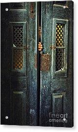 Door Peeking Acrylic Print by Carlos Caetano