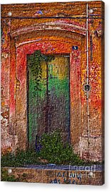 Door Series - Green Acrylic Print by Susan Parish