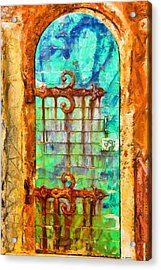 Acrylic Print featuring the painting Door To Lighthouse by Kai Saarto