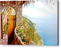 Door To Paradise Acrylic Print by Susan Schmitz