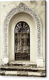 Door With Decorated Arch Acrylic Print