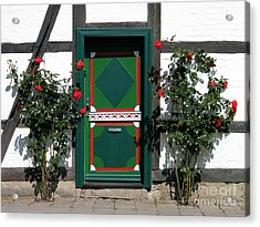 Door With Roses Acrylic Print by Art Photography