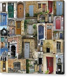 Doors Collage Acrylic Print