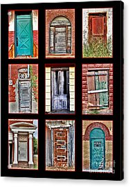 Doors Of Distinction Acrylic Print by Pattie Calfy
