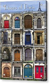 Doors Of Paris Acrylic Print