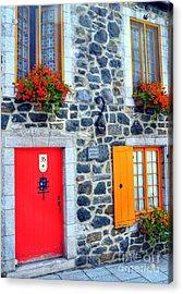Doors Of Quebec 2 Acrylic Print by Mel Steinhauer