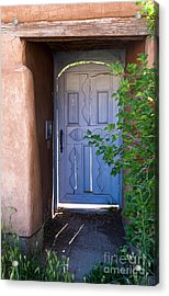 Acrylic Print featuring the photograph Doors Of Santa Fe by Roselynne Broussard