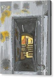 Doorway In Cinque Terra Acrylic Print