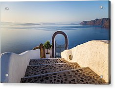Doorway In Santorini Acrylic Print