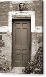 Acrylic Print featuring the photograph Doorway In Sepia by Brooke T Ryan