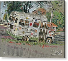 Acrylic Print featuring the painting Doodlebugs Bus by Donald Maier