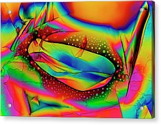 Dopamine Drug Crystals Acrylic Print by Antonio Romero