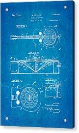Dopyera Dobro Guitar Patent Art 1933 Blueprint Acrylic Print by Ian Monk