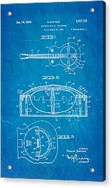 Dopyera Resonator Guitar Patent Art 1936 Blueprint Acrylic Print by Ian Monk