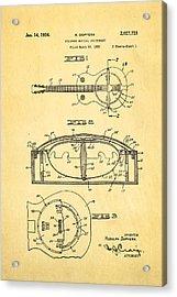 Dopyera Resonator Guitar Patent Art 1936 Acrylic Print by Ian Monk