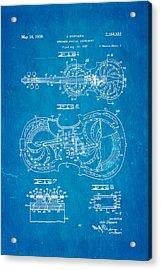 Dopyera Resophonic Violin Patent Art 1939 Blueprint Acrylic Print by Ian Monk