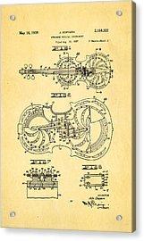Dopyera Resophonic Violin Patent Art 1939 Acrylic Print by Ian Monk