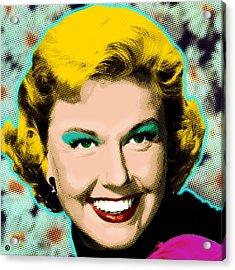 Doris Day Acrylic Print by Gary Grayson
