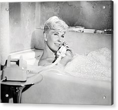 Doris Day In Pillow Talk  Acrylic Print by Silver Screen