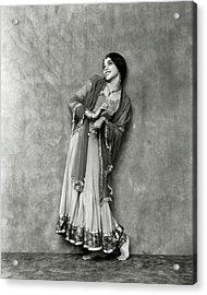 Doris Niles As An Indian Woman Acrylic Print