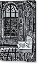 Dormer Bathroom Side View Bw Acrylic Print by Susan Candelario