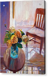 Dormer Light- Morning Light And Roses Acrylic Print