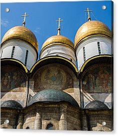 Dormition Cathedral - Square Acrylic Print by Alexander Senin