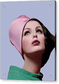 Dorothea Mcgowan In A Cloche Acrylic Print by Bert Stern