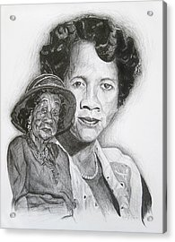Dorothy Height - Double Portrait Acrylic Print
