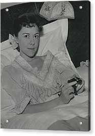 Dorothy Tutin Recovers Prom Her Illness Acrylic Print by Retro Images Archive
