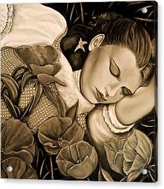 Dorothy's Sleep Sepia Acrylic Print