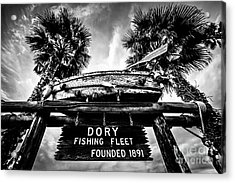 Dory Fishing Fleet Sign Picture In Newport Beach Acrylic Print by Paul Velgos