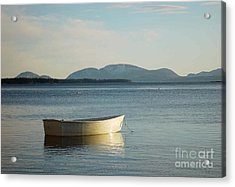 Acrylic Print featuring the photograph Dory In Harbor by Christopher Mace