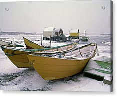 Dorys In Winter At Blue Rocks Nova Scotia Acrylic Print