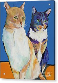 Dos Amores Acrylic Print by Pat Saunders-White