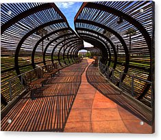 Acrylic Print featuring the photograph Dos Lagos Tunnel Walk by Richard Stephen