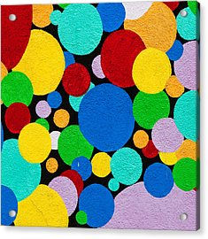 Dot Graffiti Acrylic Print by Art Block Collections