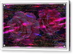 Dots Of Light And Roses Acrylic Print