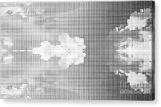 Dotted Background Texture Halftone Dots Acrylic Print