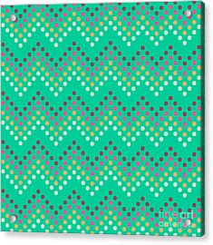 Dotted Lines Zigzag Pattern With Acrylic Print by Hakki Arslan