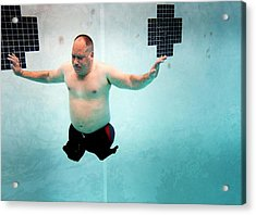 Double Amputee Swimmer Acrylic Print by Us Air Force/mark Fayloga